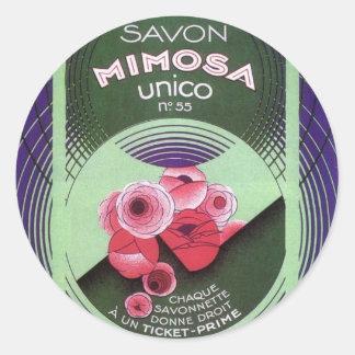 Savon Mimosa Unico 55 Round Sticker