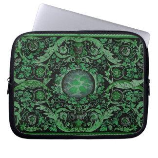 Savonnerie Carpet 1 (Green) Laptop Computer Sleeves