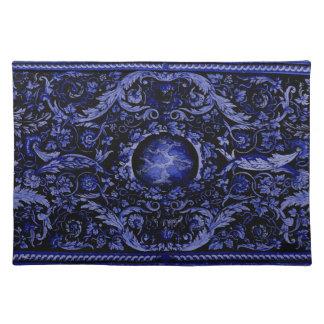 Savonnerie Carpet (Blue) Placemat