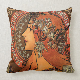 Savonnerie De Bagnolet by Mucha Throw Pillow