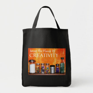 """""""Savor The Flavor Of Creativity"""" Photography Tote Bags"""