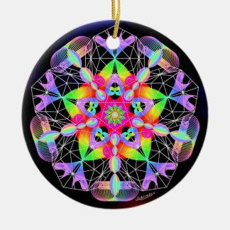 Savoring Life/Exultation Round Ceramic Decoration