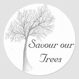Savour our Trees Classic Round Sticker