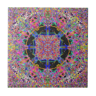 Savour The Gooey Detail A Sweet Candy Mandala Small Square Tile