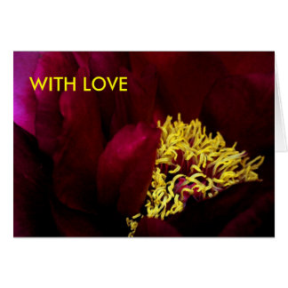 SAVOURING, WITH LOVE GREETING CARD