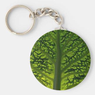 Savoy cabbage leaf keychain