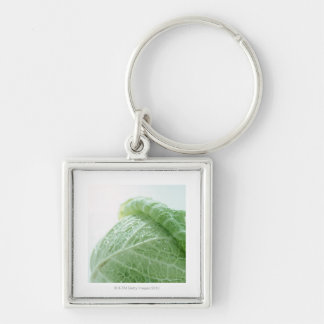 Savoy Cabbage Silver-Colored Square Key Ring