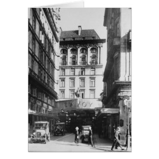 Savoy Hotel, London Greeting Card