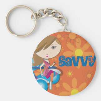 Savvy Basic Round Button Key Ring