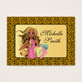 Savvy Shopper Chubby Business Card