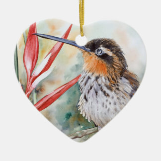 Saw-billed Hermit Hummingbird Christmas Ornament