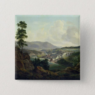 Saw Mill in Norway, 1827 15 Cm Square Badge