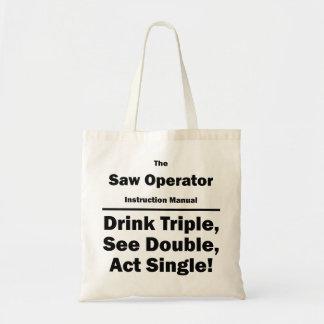 saw operator tote bags