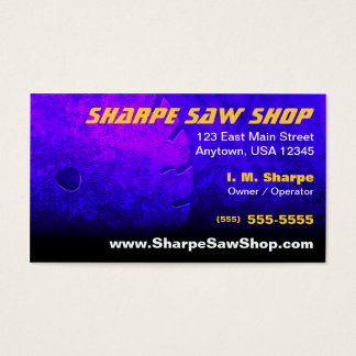 Saw Shop Business Card