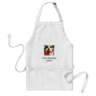 saw, whos the scary cook? standard apron