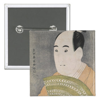 Sawamura Sojuro III in the Role of Ogishi 15 Cm Square Badge