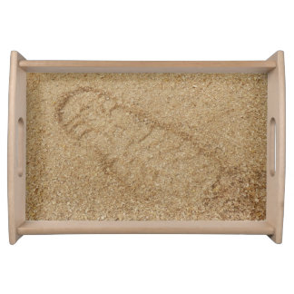 Sawdust Boot Print Serving Tray