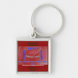 Sawgrass University Aluminum Arts Division Silver-Colored Square Key Ring