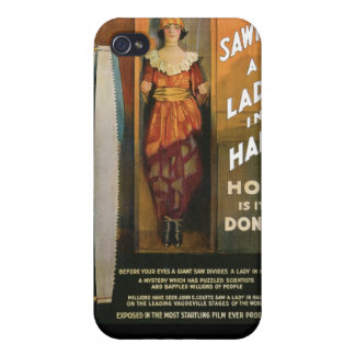 Sawing A Lady In Half ~ Magician Vintage Magic Act iPhone 4/4S Case