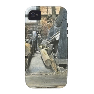 Sawmill Workers Magic Lantern Slide 2 Case For The iPhone 4