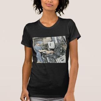Sawmill Workers Magic Lantern Slide 3 T-Shirt