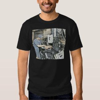 Sawmill Workers Magic Lantern Slide 3 Tshirts