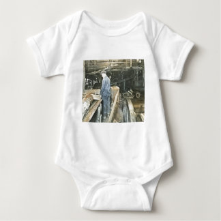 Sawmill Workers Magic Lantern Slide 5 Baby Bodysuit