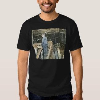 Sawmill Workers Magic Lantern Slide 5 Shirts