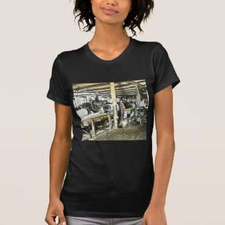Sawmill Workers Magic Lantern Slide 6 T-Shirt
