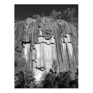 Sawn Rocks in Black & White Postcard