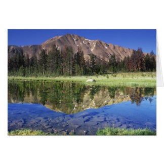 Sawtooth Mountains reflected in Fourth of July Card