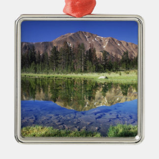 Sawtooth Mountains reflected in Fourth of July Christmas Ornament