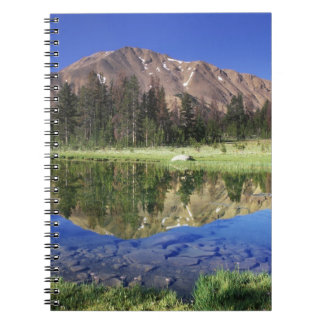 Sawtooth Mountains reflected in Fourth of July Notebook