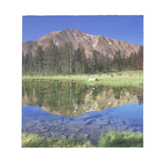 Sawtooth Mountains reflected in Fourth of July Notepad