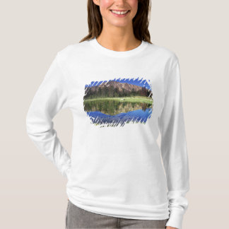 Sawtooth Mountains reflected in Fourth of July T-Shirt