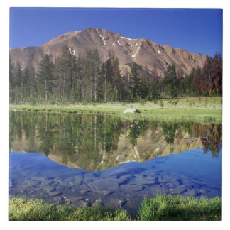 Sawtooth Mountains reflected in Fourth of July Tile