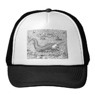 Sawtooth Shark Map Monster Mesh Hat