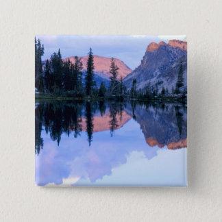 Sawtooth Wilderness, Idaho. USA. Cumulus 15 Cm Square Badge