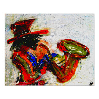 sax an abstract 20x16 poster