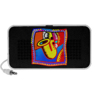 Sax and hands bright coloured graphic Saxophone iPhone Speaker