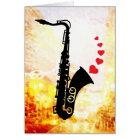 Sax and Love Card