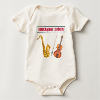 sax and violins baby bodysuit