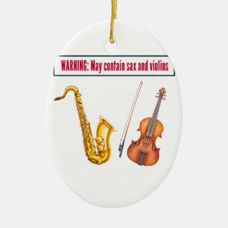 sax and violins christmas ornament