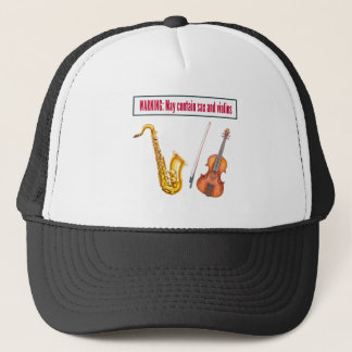 sax and violins trucker hat