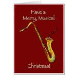 Sax Christmas Card