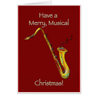 Sax Christmas Card