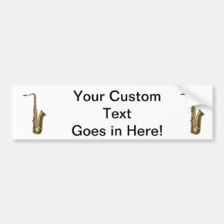 Sax facing right graphic bumper sticker
