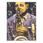 Sax Man II Postcard