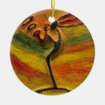 Sax Music Black Art_African Xmas Ceramic Ornaments