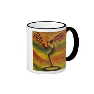 Sax Player Black Art Gift Coffee Mugs_By Injete Coffee Mug
